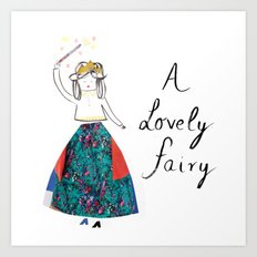 A Lovely Fairy Art Print