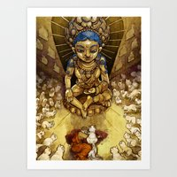Sacred Cats of Burma Art Print