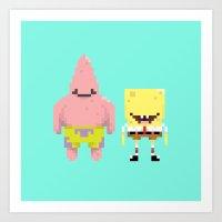 A Sponge & Starfish Art Print