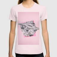 Cellophanexpink Womens Fitted Tee Light Pink SMALL