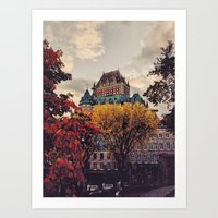 Fall Chateau Art Print