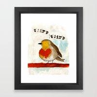 Tjirp Tjirp Framed Art Print