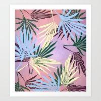 Pale Leaf Purple Art Print