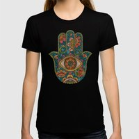 Hamsa Womens Fitted Tee Black SMALL