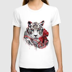 White Tiger Womens Fitted Tee White SMALL