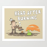 Read After Burning Art Print