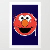 Elmo splatt Art Print