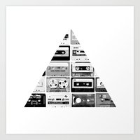 ▲ Triangle Cassettes △ Art Print