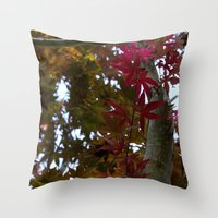 Japanese Maple Tree Throw Pillow