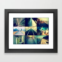 Vanishing Points Framed Art Print