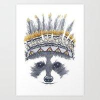 Festivale Raccoon Art Print