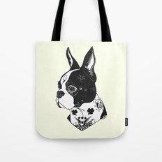 Dog - Tattooed BostonTerrier Tote Bag