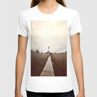 Light House Womens Fitted Tee White SMALL