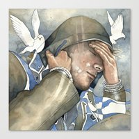 Dreams of freedom II, watercolor Canvas Print