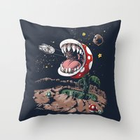 The Plumber Strikes Back Throw Pillow