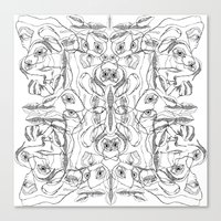 pile ou faces Canvas Print