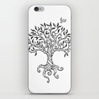 Shirley's Tree BW iPhone & iPod Skin