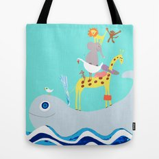 Taxi Whale Tote Bag