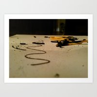 Playing with Matches  Art Print