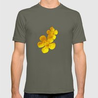 FLOWERS - Bonnie Butterc… Mens Fitted Tee Lieutenant SMALL