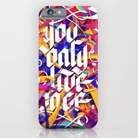 iPhone Cases featuring YOU ONLY LIVE ONCE by Roberlan Borges