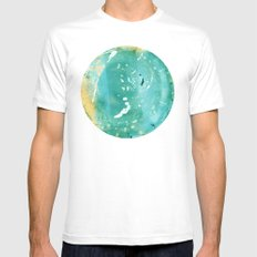 Blue Fantasy Planet Mens Fitted Tee SMALL White