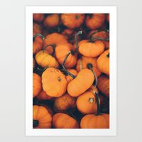 Obligatory Pumpkin Selfi… Art Print
