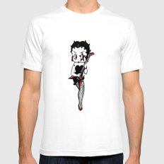 BETTY ROCK Mens Fitted Tee White SMALL