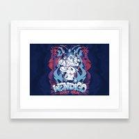 WENDIGO Spirit Drum Framed Art Print