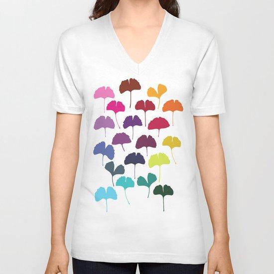 Ginkgo Multicolor V-neck T-shirt