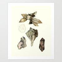 Crystal Studies Art Print