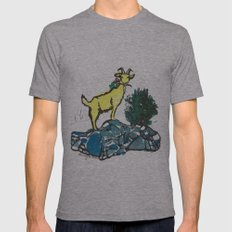 Goatie McGoatersons (colored version) Mens Fitted Tee Athletic Grey SMALL