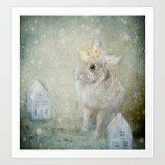 The Bunny Queen Art Print