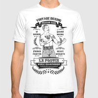 Vintage Boxing Mens Fitted Tee White SMALL