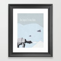 Empire Strikes Back movie poster. Framed Art Print
