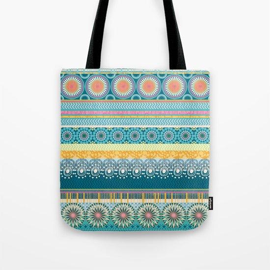 Blue Streaks Tote Bag