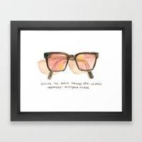 Rose-Colored Filters Framed Art Print