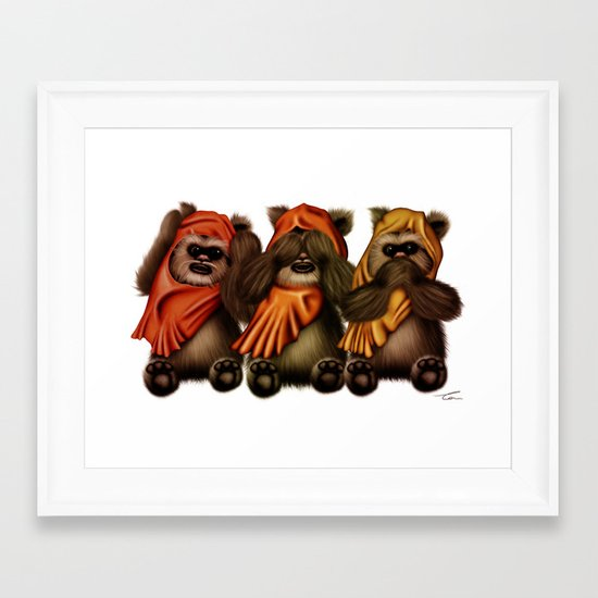 STAR WARS The Three Wise Ewoks Framed Art Print