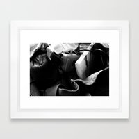 Contents of a Hipster's bag.  Framed Art Print