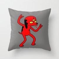 Satan's Little Helper Throw Pillow