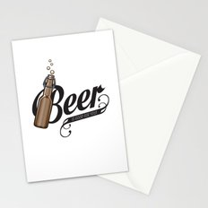 Beer is good Stationery Cards