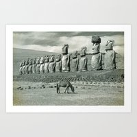 EASTER ISLAND VISTA Art Print