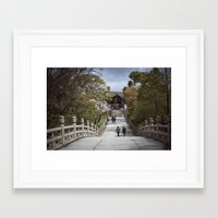 Kyoto Temple Walkway Framed Art Print