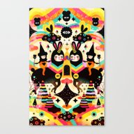 Canvas Print featuring Flying High by Muxxi