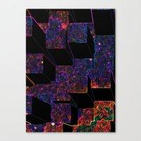 Electric Cubes  Canvas Print