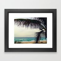 Sea And Palm  Framed Art Print