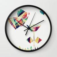 Spring Illustration Wall Clock