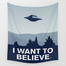 My X-files: I want to believe poster Wall Tapestry