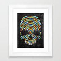 Hypnotic Skull Framed Art Print