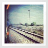 train trip Art Print